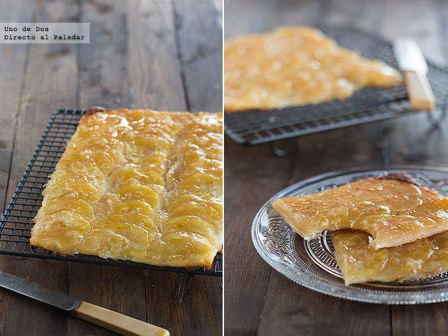 Tarta de manzana fina y crujiente.Buenisima ༺✿ƬⱤღ  https://www.pinterest.com/teretegui/✿༻