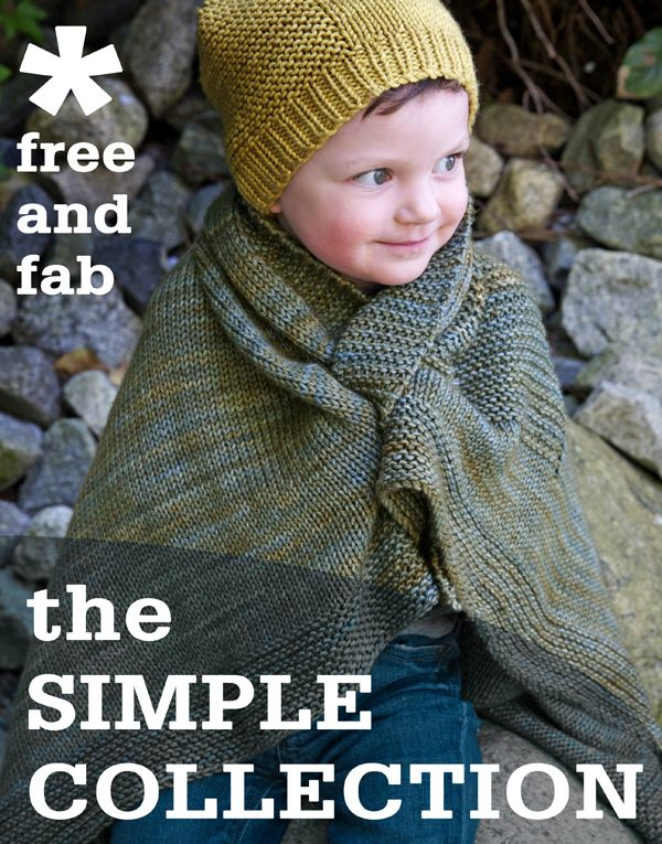 The Simple Collection, 8 free knitting patterns (and tutorials for new knitters!)