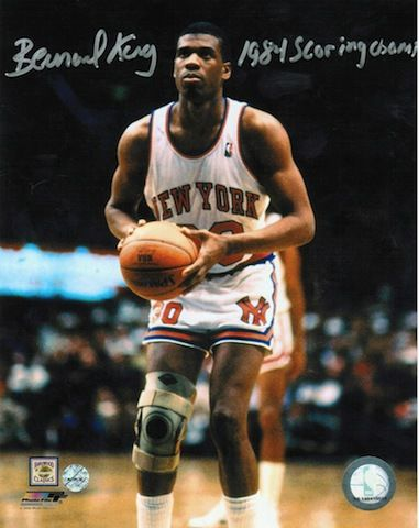 "Autographed Bernard King New York Knicks 8x10 Photo Inscribed """"1984 Scoring Champ"""""