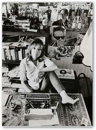 Oriana Fallaci in her studio.