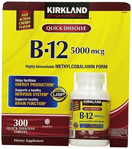 Kirkland Signature Sublingual B12 5000 mcg 300 Tablets >>> For more information, visit image link.