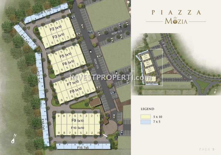 Siteplan Cluster Piazza The Mozia BSD