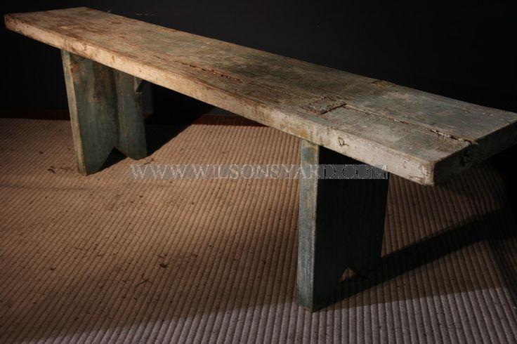 Small Painted Bench | Wilsonsyard.com