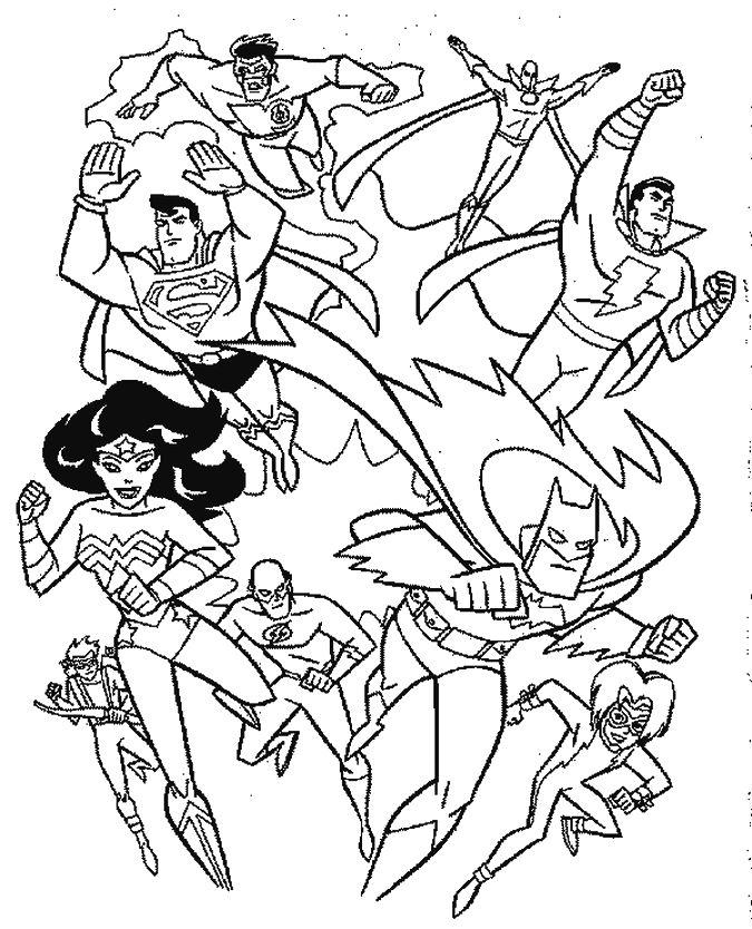 Coloriage Super Héros à colorier - Dessin à imprimer