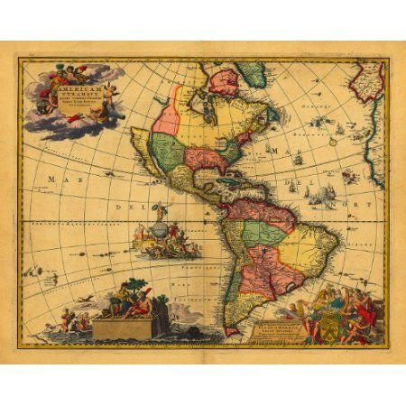 Best Old Maps To Pin Images On Pinterest Old Maps Antique - Us map 1700