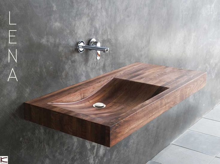 Beautiful wooden basin