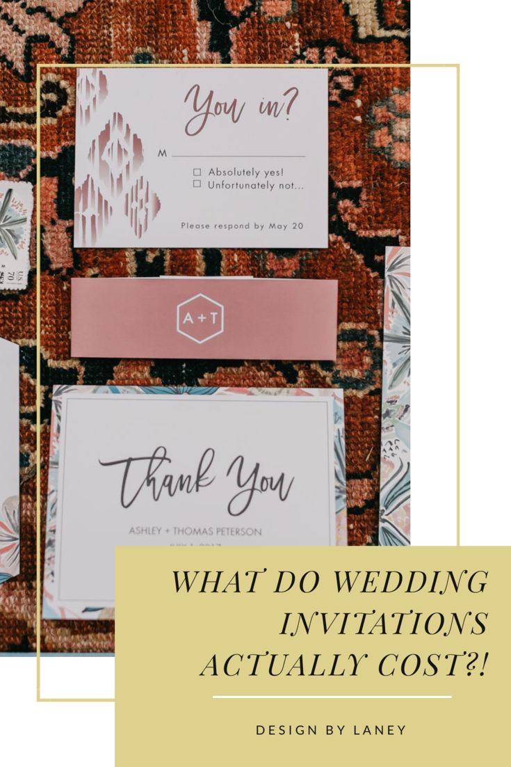 What do Wedding Invitations ACTUALLY Cost? — Design by
