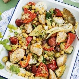Lätt att variera med olika kryddiga korvar. Snabb, god och enkel vardagsmat!