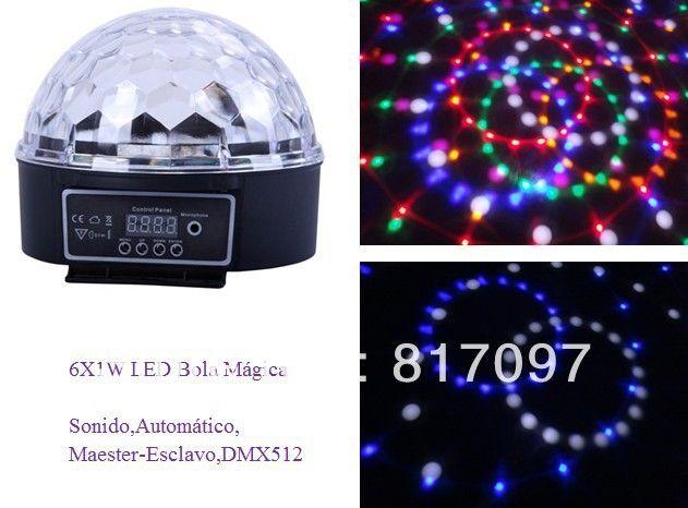 37.99$  Watch here  - Venta 6 Piezas 1W LED Bola Magica Sonido Automatico DMX512 7 Canales DJ Efectos Luces LED Fiestas Eventos Efectos Discoteca Pub