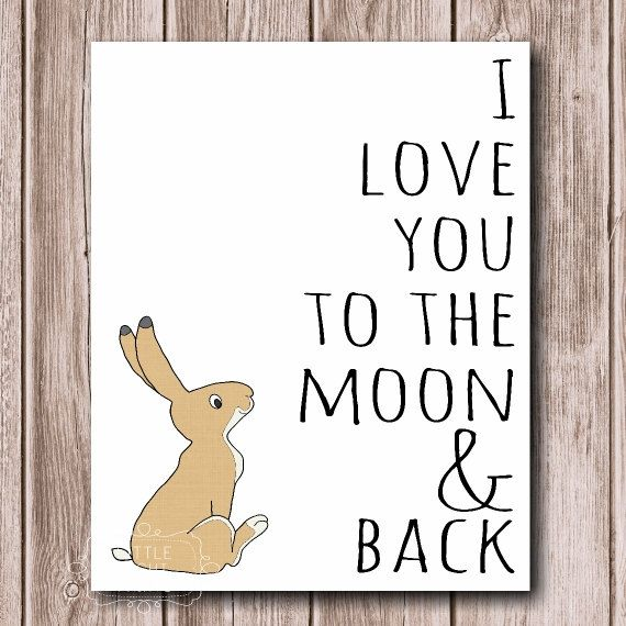 Guess How Much I Love You Print by LittleLightPrints on Etsy, $17.00