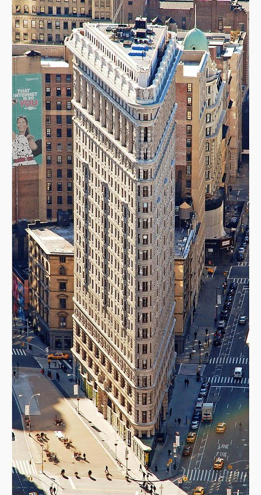 Flatiron Building - Wikipedia, the free encyclopedia. This picture shows the top of the building. NYC
