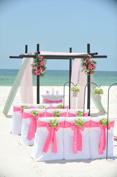Big Day Weddings, Flamingo Pink Wedding Theme, Pink Beach Wedding, Pink  Beachu2026