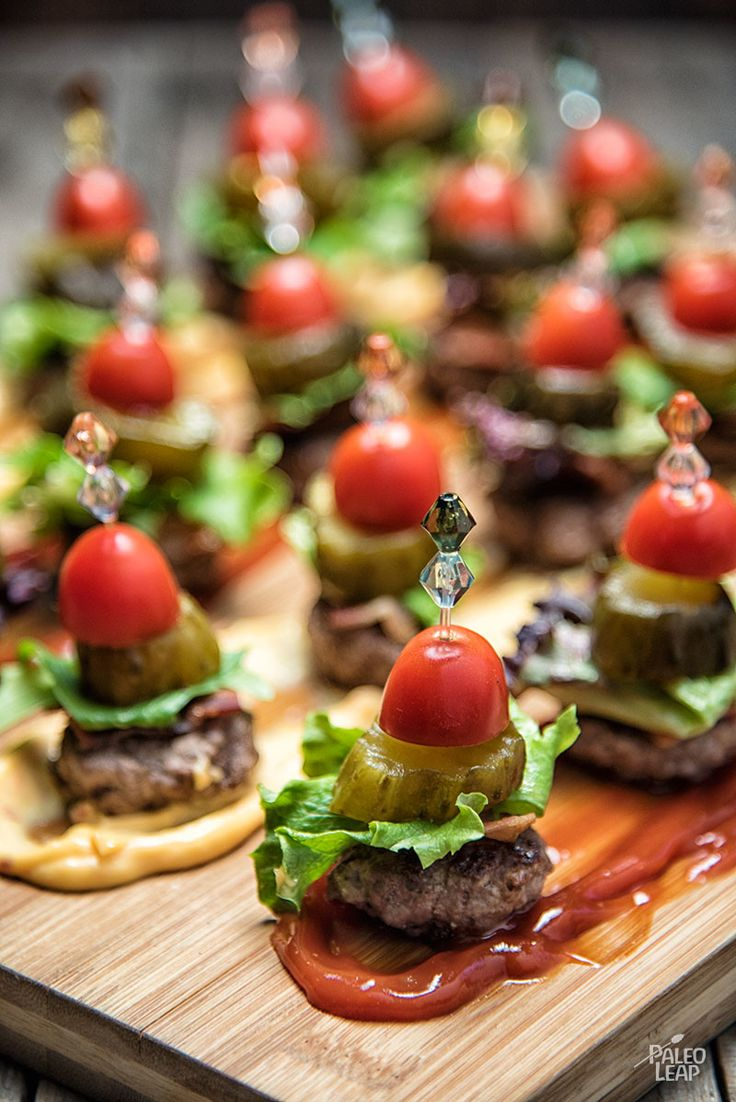 Miniaturize a classic dinner for an easy, kid-friendly appetizer or party finger food.