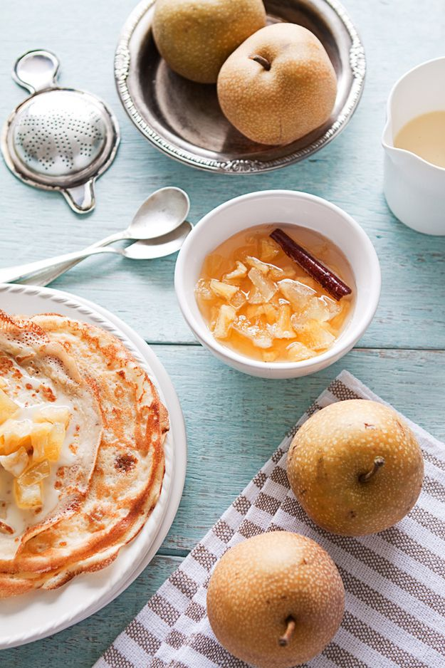 Crepes with Asian Pears Compote   29 Delicious Ways To Eat More Pears