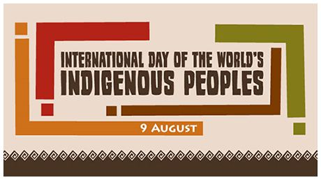 International Day of the World's Indigenous Peoples -  9 August 2016