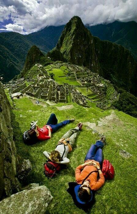 Descansar así y ante ese #paisaje luego de un largo viaje