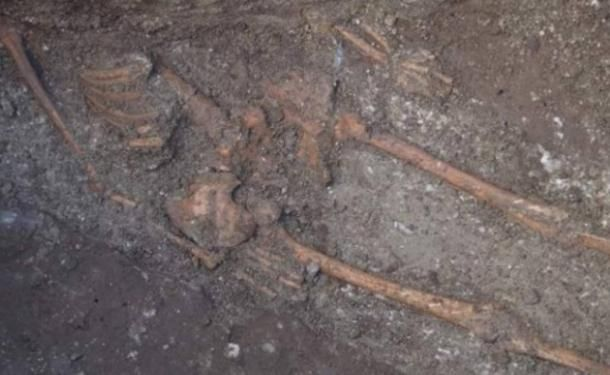 """Archaeologists in Bulgaria have discovered the remains of what they have described as a """"huge skeleton"""" in downtown Varna, a city on the shores of the Black Sea whose rich culture and civi"""
