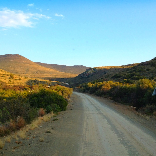 All roads lead to Nieu Bethesda. South Africa.