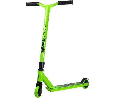 Grønt trickløbehjul fra Slamm Scooters.