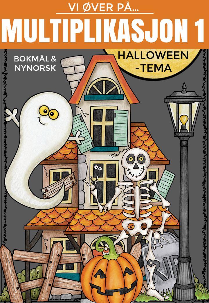 Multiplikasjon 1 - Halloween-tema | Vi øver-serien