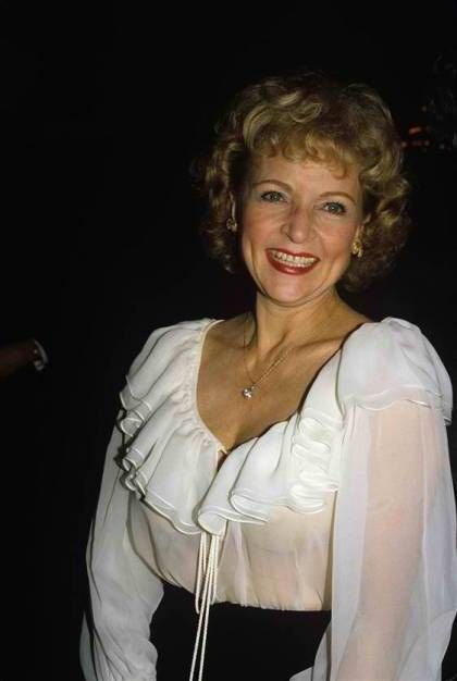 Betty White in Sheer Pleated Top