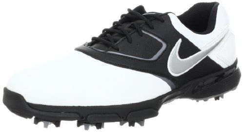 Nike Shoes Golf Nike Golf Men's Nike Heritage III Golf Shoe                                 synthetic                    Rubber sole                    Synthetic Leather Uppers                    Water Resistant upper                    Nike Power Platform Flex                    Scorpion Stinger Spikes and Tri-LOK system