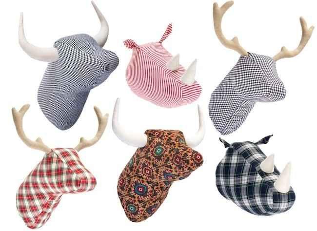 regalos originales cabezas de animales de tela