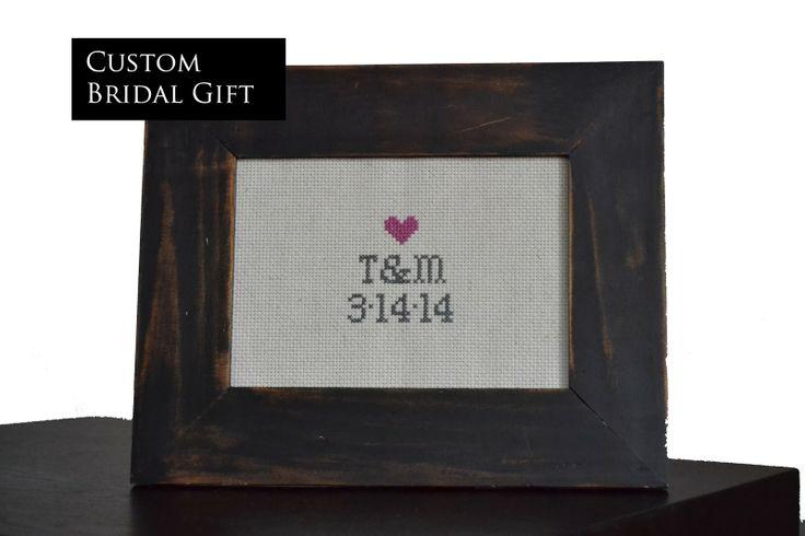 DIY: Bridal Shower Custom Cross Stitch Gift