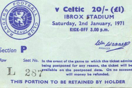 Ticket stub from the fateful match against Celtic.