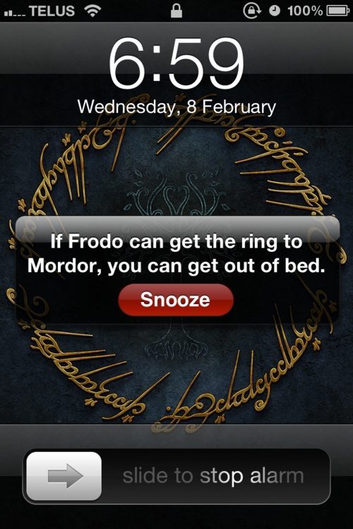 if Frodo canGeek, Beds, Self Motivation, Alarm Clocks, Mornings Motivation, Funny, So True, Rings, Messages