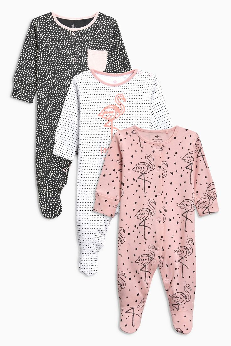 Buy Flamingo Print Sleepsuits Three Pack (0mths-2yrs) from the Next UK online shop