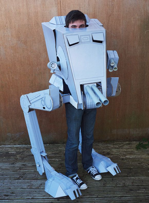 For Halloween: AT-ST Costume - If I show this to my brother he will totally want one!