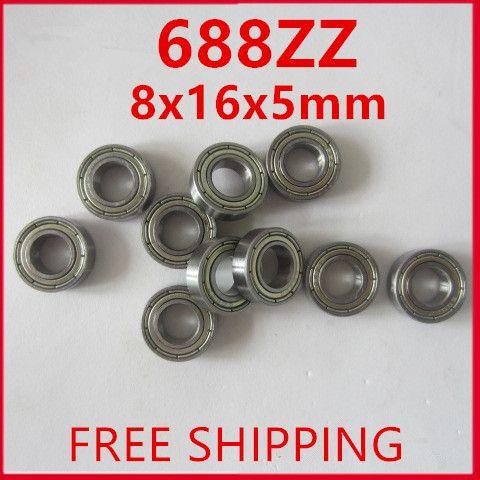 Free Shipping AXK Brand 20pcs 688ZZ (8x16x5mm) Metal Double Shielded Ball Bearing Bearings 688ZZ #CLICK! #clothing, #shoes, #jewelry, #women, #men