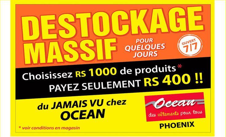 Ocean - DESTOCKAGE MASSIF