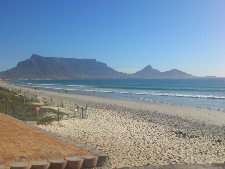 Milnerton beach, Table Mountain in background, South Africa