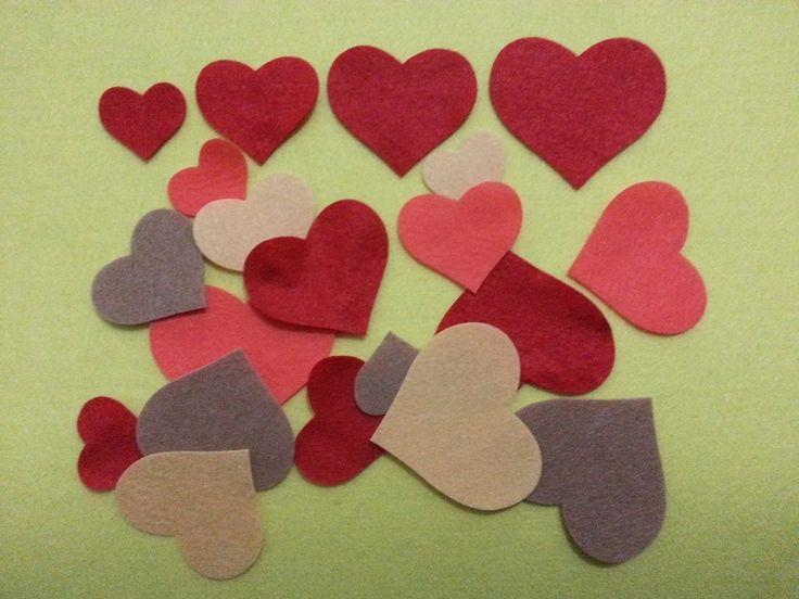 Kalın Keçe Kalp (2 Set – 8 Parça)