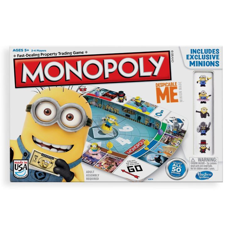 If you love the widely popular Despicable Me movies, you will love this Despicable Me Monopoly Game. Monopoly has never been this mischievous! Gru is back with a villainous plan to take over! Collect