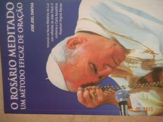 """Rosario Meditado: Capa do livro """"O ROSÁRIO MEDITADO - UM MÉTODO EFICAZ DE ORAÇÃO"""""""
