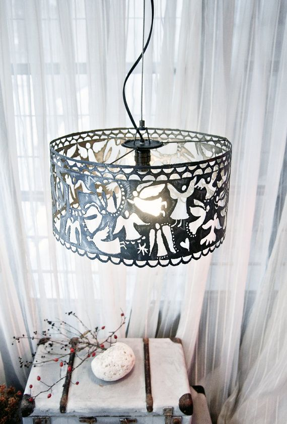 Unique Lamp design metal hanging lamp by TheSteelStyleThings