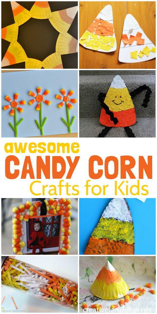 halloween candy corn crafts for kids | halloween | pinterest