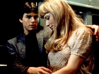 Straight bangs, full ends. Rebecca De Mornay in Risky Business