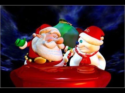 Le Père Noël et le bonhomme de neige