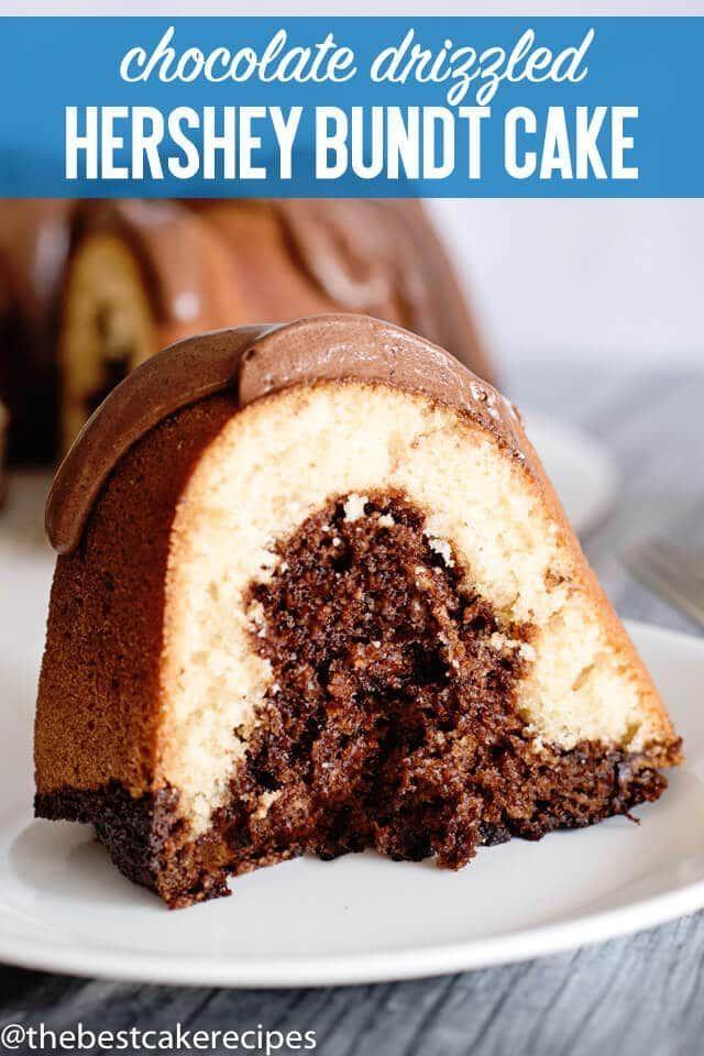 Hershey Bundt Cake Recipe Easy Swirled Cake With Buttermilk Frosting Cake Bundtcake Hershey Easy Bundt Cake Recipes Easy Cake Recipes Bundt Cakes Recipes