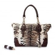 Michael Kors Bedford Tiger Embossed Leather Satchel Brown Online http://www.michaelkorsorder.com/