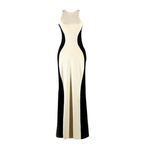 Lycra Contrast Back Maxi Dress DR0130014