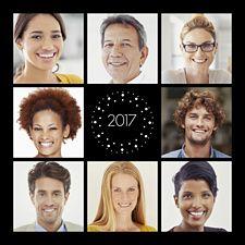 Un classique en équipe avec cette carte de vœux multi-cadres pour envoyer des voeux originaux et positifs sous le signe de l'esprit d'équipe !