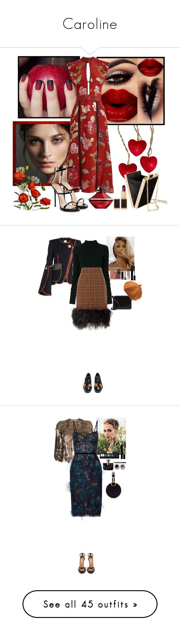 """Caroline"" by kkarolinas ❤ liked on Polyvore featuring Kurt Adler, Burberry, Tom Ford, Guerlain, Giuseppe Zanotti, H&M, Peter Pilotto, Faith Connexion, Prada and Stila"
