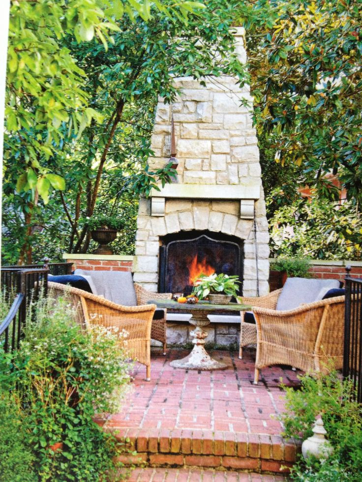 353 best large outdoor fireplaces images on pinterest for Outdoor gazebo plans with fireplace