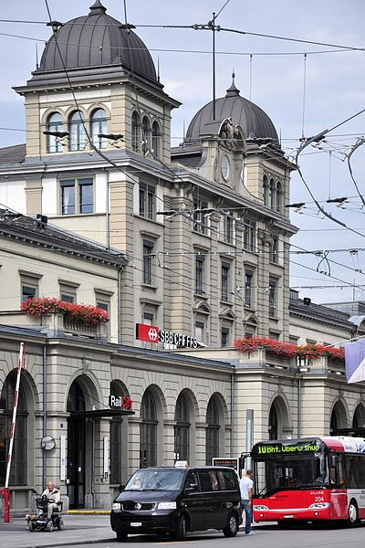 Winterthur, Switzerland central train station - busiest on the Swiss rail system