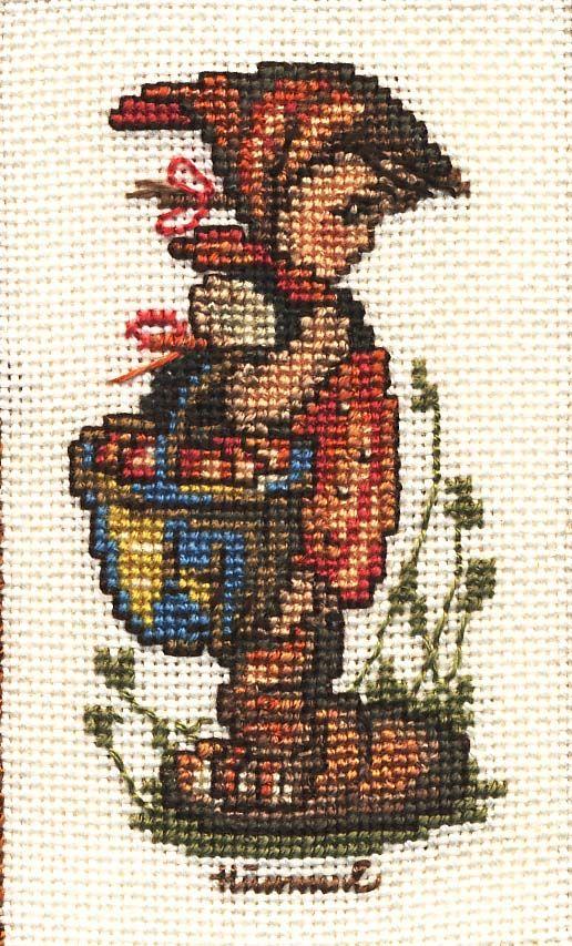 """Off To Town"" Hummel cross stitch design"